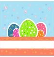 Pretty and nice easter eggs vector image vector image