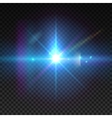 Realistic sun burst with flare Lens flare vector image vector image