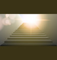 realistic white upward clear stairs vector image vector image