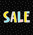 Sale sign on black background vector image vector image