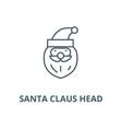 santa claus head line icon linear concept vector image