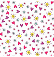 seamless hand drawn summer pattern vector image