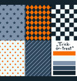 set 5 simple seamless geometric patterns vector image