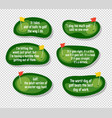 set of funny quotes about golf vector image vector image