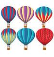 set of hot air balloon vector image