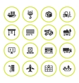 Set round icons of logistic vector image vector image