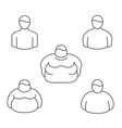 shape classification of obesity level and vector image vector image