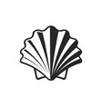 shell icon simple flat symbol on white background vector image