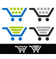 shopping cart icons editable graphic vector image