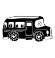silhouette vehicle school bus education vector image vector image