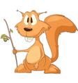 Silly squirrel cartoon vector image