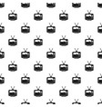 Soccer match on tv pattern vector image