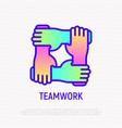teamwork thin line icon with gradient vector image vector image