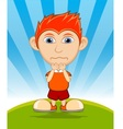 The boy crying cartoon vector image vector image