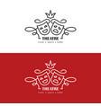 theatre or drama school linear logo vector image