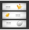 three simple sticker egg chicken chicken vector image