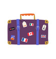 travel and trip concept flat design suitcase vector image