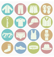 white icons gent clothes vector image vector image