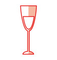 wine cup isolated icon vector image vector image