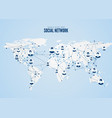 world wide web global network structure vector image