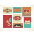 Xmas set - labels tags and greeting cards vector image