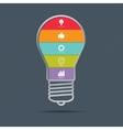 Light bulb infographics concept vector image