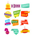set pf labels stickers vector image