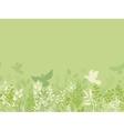 Green nature horizontal seamless pattern vector image