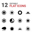 12 sunrise icons vector image vector image
