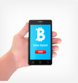 bitcoin crypto currency concept vector image