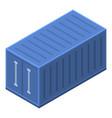 blue cargo box icon isometric style vector image vector image