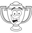 Cartoon smiling trophy vector image
