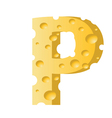 cheese letter P vector image vector image