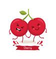 cherry cartoon vector image vector image