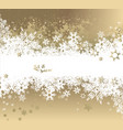 christmas light background with white and golden vector image