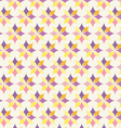 Classic Purple and Yellow Flower Pattern on Pastel vector image vector image