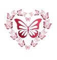 Colorful background with butterfly vector image