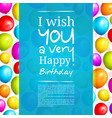 colorful birthday balloons vector image vector image