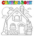 coloring book house theme image 1 vector image vector image