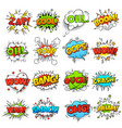 comic words cartoon boom crash speech bubble vector image