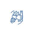 development line icon concept development flat vector image vector image