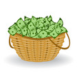 dollars basket financial profit concept vector image