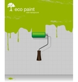drawing eco paint-roller vector image vector image