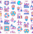 energy seamless pattern with thin line icons vector image vector image