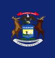 flag of michigan usa vector image vector image