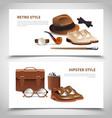 gentleman realistic banners set vector image