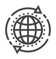 global solution line icon seo and development vector image vector image