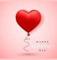 happy valentines day red balloon in form of heart vector image vector image