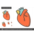 Human heart line icon vector image vector image
