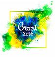 Inscription Brazil 2016 on background vector image vector image